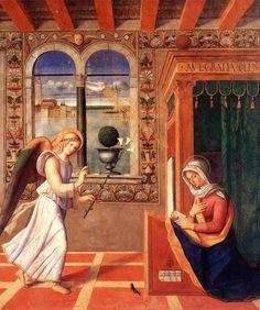 Annunciazione - (1504) olio su tavola - Francesco di Simone da Santacroce - Accademia Carrara, Bergamo