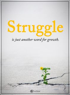 Struggle is just another word for growth.