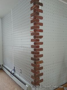 Brick Love, Part II - don't have exposed brick in your house but love the look and want it? You can DIY this, y'all. This looked amazing when she was done!! I want in our Master bedroom as a behind-the-bed wall.
