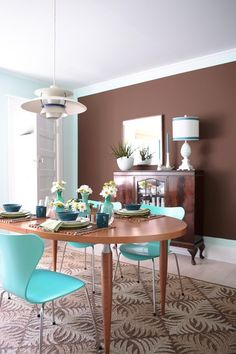Blue And Brown Dining Room | Photo Gallery: Great Paint Colours | House & Home | Photo Angus Fergusson