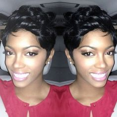 Another pixie. To learn how to grow your hair longer click here - http://blackhair.cc/1jSY2ux