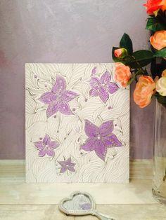 Картина Лиловая роса. Painting Purple dew от ArtAteliers на Etsy