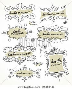 Picture or Photo of Doodles ornament