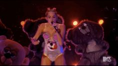 And Drake was totally into it: | The 15 Weirdest And Craziest Moments From Miley Cyrus' VMA Performance