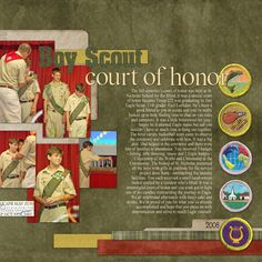 Boy Scout scrapbook layout