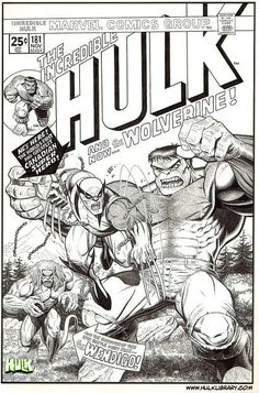 The Unpublished X-Men: Wolverine versus Hulk by Arthur Adams