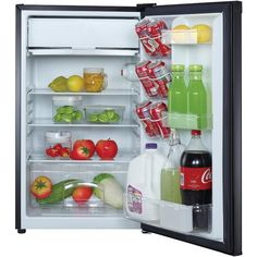 4.4 Cubic-ft Refrigerator (Black) - MAGIC CHEF - MCBR440B2