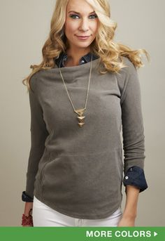 James Perse Raglan Pullover // @shopmama