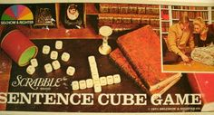 Scrabble Sentence Cube Game 1970s Word Game LoveVintageAlways