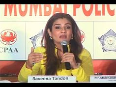What made Mumbai Police to clap for Raveena Tandon at an event of World No Tobacco Day 2015 - CHECKOUT For more Raveena Tandon's latest news, gossips, hot ph. Mumbai, Police, Music, Youtube, Musica, Musik, Bombay Cat, Law Enforcement, Muziek
