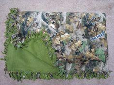 Fleece blanket throw blanket Realtree camo blanket by adfabinidaho