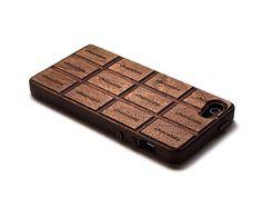 MOTE http://fb.com/moteinc の社長が選んだアイテム | スタンドにもなる!! 天然木のハンドメイド 板チョコ型iPhoneケースです。 #iPhone