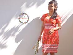 Tenun Ikat | Kerinci Krimson Dress | DhieVine | Redefine You