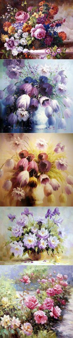 Благословенный мир цветов... ~ Натюрморты художника Антонио Джанильятти.