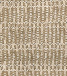 Utility Fabric- Burlap Flame Stitch