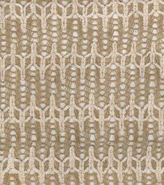 Utility Fabric- Burlap Flame Stitch