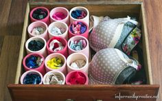No one knew why she was buying PVC pipe for her organizing her house, but when she's finished, everyone wanted to do it too!