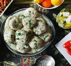 Kurdish beef and lamb dumplings in yogurt #recipe