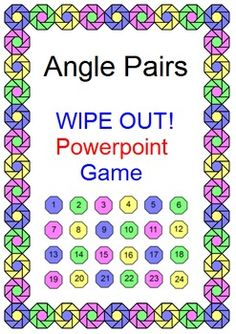 This is a powerpoint game with two versions included. Use as a WIPE OUT game that has 22 problems and 2 slides where students lose 200 or 400 points or use as a review with 24 problems. Both versions include point values for problems. These can be used for a competition of two teams to play against one another.