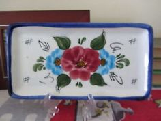 Pintado A Mano Spain Handpainted Floral Catchall Tray Gorgeous A++