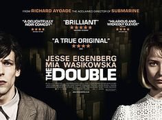 The Double (2013). Based on the 1846 novel of Fyodor Dostoyevsky.  Jesse Eisenberg plays Simon James and his double James Simon in this dark but gripping story as a lowly employee is slowly crushed by bureaucracy and goes mad. I was fascinated by the choices by Director Richard Ayoade - he uses dark austere sets with antique computers and office machinery.  I think he is a director we need to watch.
