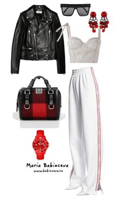 Без названия #787 by mariaalex-stylist on Polyvore featuring polyvore, fashion, style, Rosie Assoulin, Yves Saint Laurent, Misbehave, Dsquared2, Paco Rabanne, Victoria Beckham and clothing