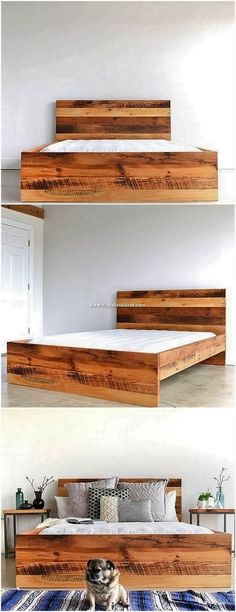 Bed Frames Set Queen Size Bed Frame Hardware For Attaching A Footboard And Headb. Bed Frames Set Q Pallet Bed Frames, Wood Pallet Beds, Diy Pallet Bed, Wooden Bed Frames, Wood Beds, Wood Pallets, Pallet Furniture Bed, Timber Beds, Furniture Projects