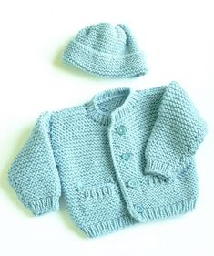 Cute little baby sweater to kn |