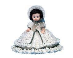 "7138 PDF Crochet Bed Doll Pattern 13"" Gabrianna"