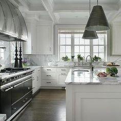 Black Lacanche Range with White Cabinets