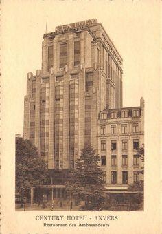Please #Retweet Vintage c1920s Anvers Antwerp Belgium Postcard Century Hotel R92