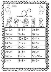 atividades-de-matematica-adicao-1-ano-resolva-as-adicoes-soma – Educação e Transformação Preschool Math, Fun Math, Teaching Math, Learning Activities, Kids Learning, School Worksheets, Kindergarten Worksheets, Christian School, 1st Grade Math