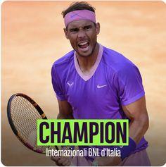 Champ - 2021 Rome Rafael Nadal, Tennis Players, Tennis Racket, Champs, Rome, Sports, Hs Sports, Sport, Rome Italy