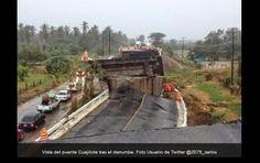 Colapsa puente tecpan.por sismo de 6 .6.