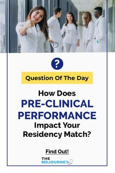 Does pre-clinical performance affect your chances to match in med school? Watch this episode to find out! School Tips, School Hacks, Study Techniques, Question Of The Day, Stress Less, Med School, Good Grades, Medical School, Clinic