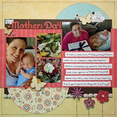 12 best mother s day scrapbook layouts images on pinterest