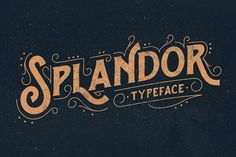 Splandor Typeface by ilhamherry on @creativemarket