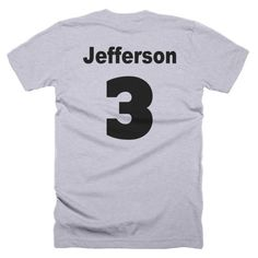 Sport the team shirt of your favorite President. Ours is Jefferson!  Send us a message and we will customize a shirt with your favorite POTUS.  @shirthitsthefan
