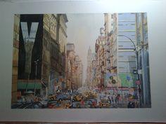 I enjoyed painting New York
