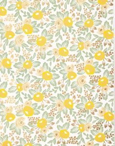 Overview This quintessential Rifle Paper Co. floral pattern is the anchor of our our wallpaper collection. It comes in four different colorways, each brimming with bold, layered colors and metallic ac