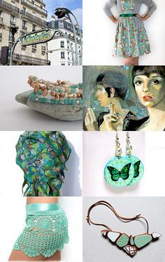 """Women love turquoises"" Curated by Alicja @  http://www.etsy.com/shop/filcAlki  Featuring my Natural nautilus shell/ 925 silver focal bead (item number 7174) @  https://www.etsy.com/listing/108019213/natural-nautilus-shell-925-silver-focal?ref=tre-2721694585-15"