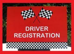 Racing Car Theme Party Sign