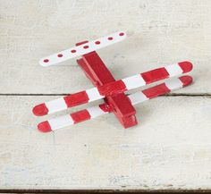 diy airplane with clothespin & ice-cream stick