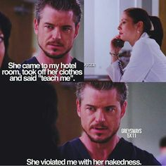 This is 😂 hilarious 😂 Greys Anatomy Funny, Grays Anatomy Tv, Grey Anatomy Quotes, Grey's Anatomy, Tv Quotes, Movie Quotes, Netflix Quotes, Lexie And Mark, Movies