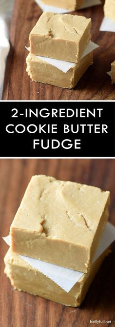 This 2-Ingredient (Biscoff) Cookie Butter Fudge only takes 5 minutes of prep time and it's crazy good! Great treat for parties or as a gift!