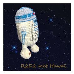 Amugurumi zonder gepriegel! R2D2 gemaakt met Lammy Hawaï #R2D2 #crochet #hakeniship Tweety, Fictional Characters, Hawaii, Fantasy Characters