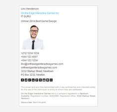 8 Corporate Email Signature Templates