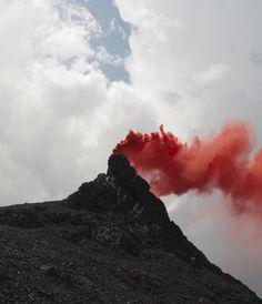 colored smoke photograph