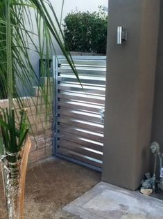 corrugated metal fence - Google Search