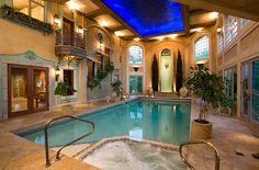 Artistic Beautiful Indoor Pools on Swimming Pool Inspiration Pool Spa, My Pool, Indoor Pools, Sauna, Palaces, Piscina Interior, Dream Pools, Beautiful Pools, Spa Rooms
